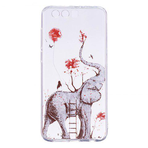 Elephant Pattern Soft TPU Clear Case for Huawei Honor 9 - TRANSPARENT
