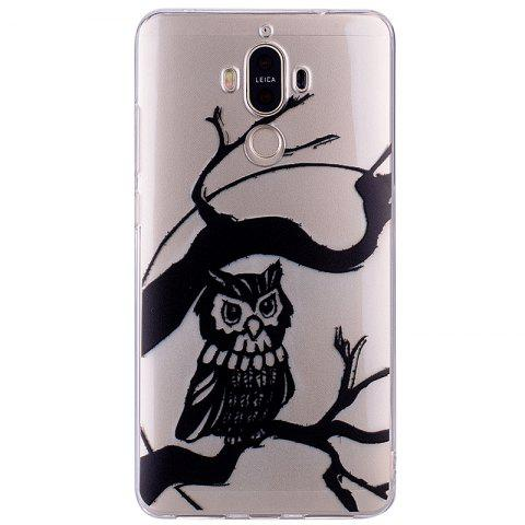 Owl Pattern Soft TPU Clear Case for Huawei Mate 9 - TRANSPARENT