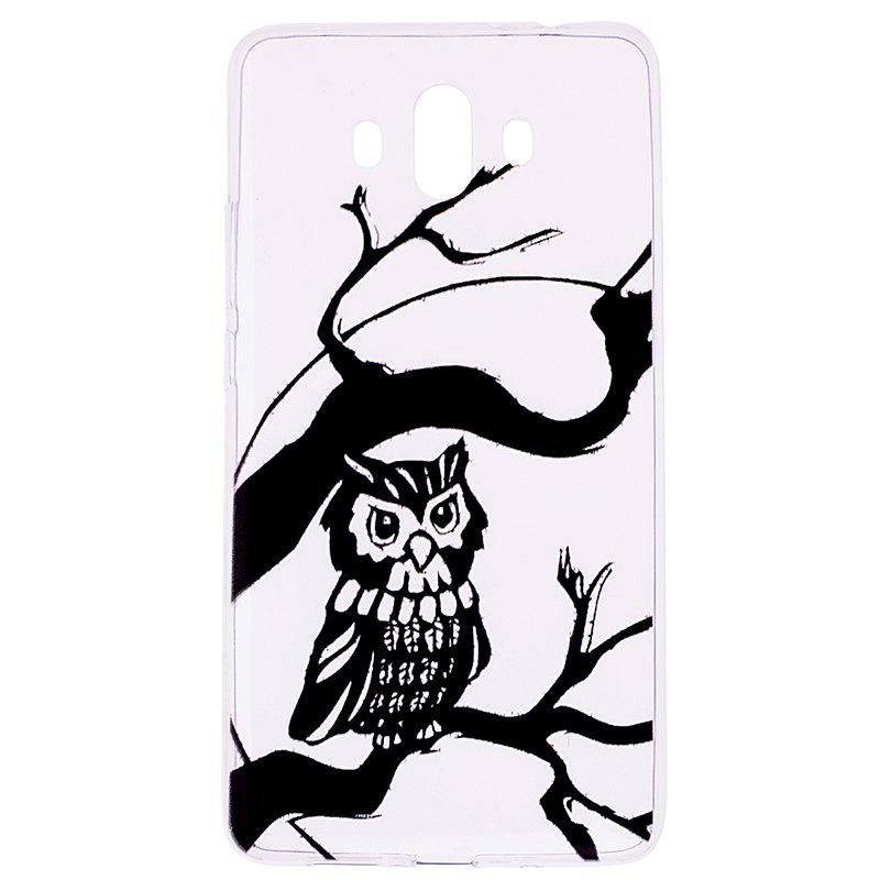 Owl Pattern Soft TPU Clear Case for Huawei Mate 10 - TRANSPARENT