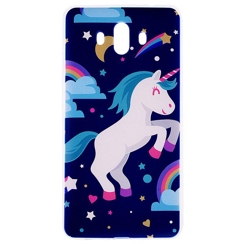 Pegasus Pattern Soft TPU Clear Case for Huawei Mate 10 - CERULEAN