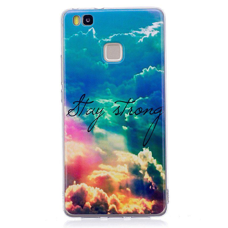 Heaven Pineapple Pattern Soft TPU Clear Case for Huawei P9 Lite - TRANSPARENT