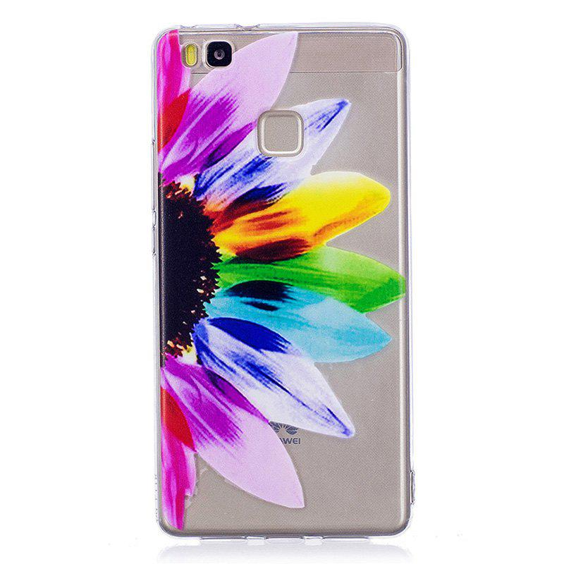 Sunflower Pattern Soft TPU Clear Case for Huawei P9 Lite - TRANSPARENT