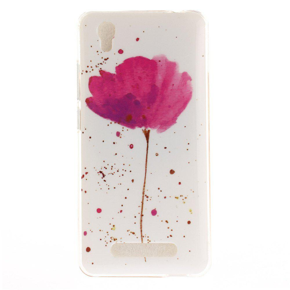 Song For Orchid Soft Clear IMD TPU Phone Casing Mobile Smartphone Cover Shell Case for ZTE Blade X3 Blade D2 T620 Q519T - PINK