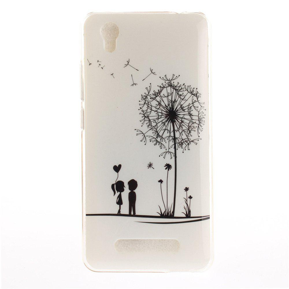 Dandelion Pattern Soft Clear IMD TPU Phone Casing Mobile Smartphone Cover Shell Case for ZTE A452 Blade X3 D2 T620 Q519T - WHITE
