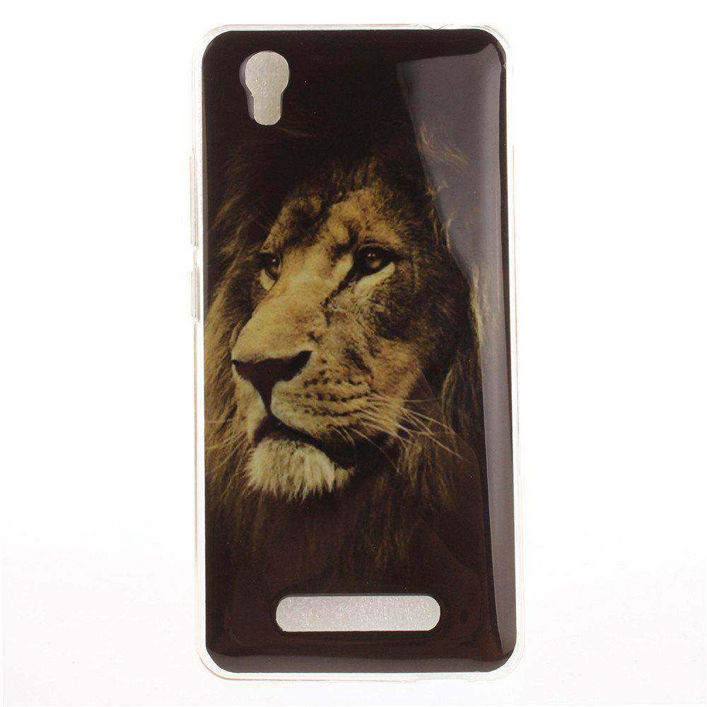 Lion Soft Clear IMD TPU Phone Casing Mobile Smartphone Cover Shell Case for ZTE A452 Blade X3 D2 T620 Q519T - BLACK