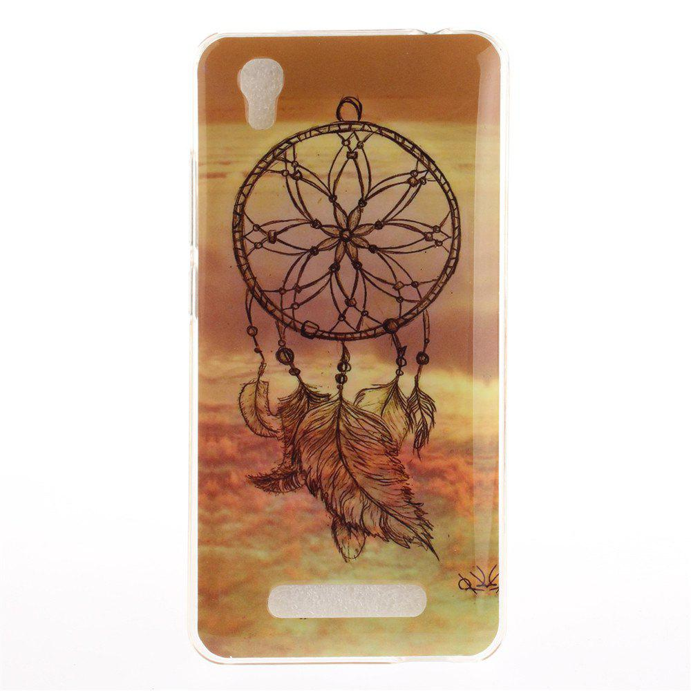 Windbell Pattern Soft Clear IMD TPU Phone Casing Mobile Smartphone Cover Shell Case for ZTE A452 Blade X3 D2 T620 Q519T - COLORMIX