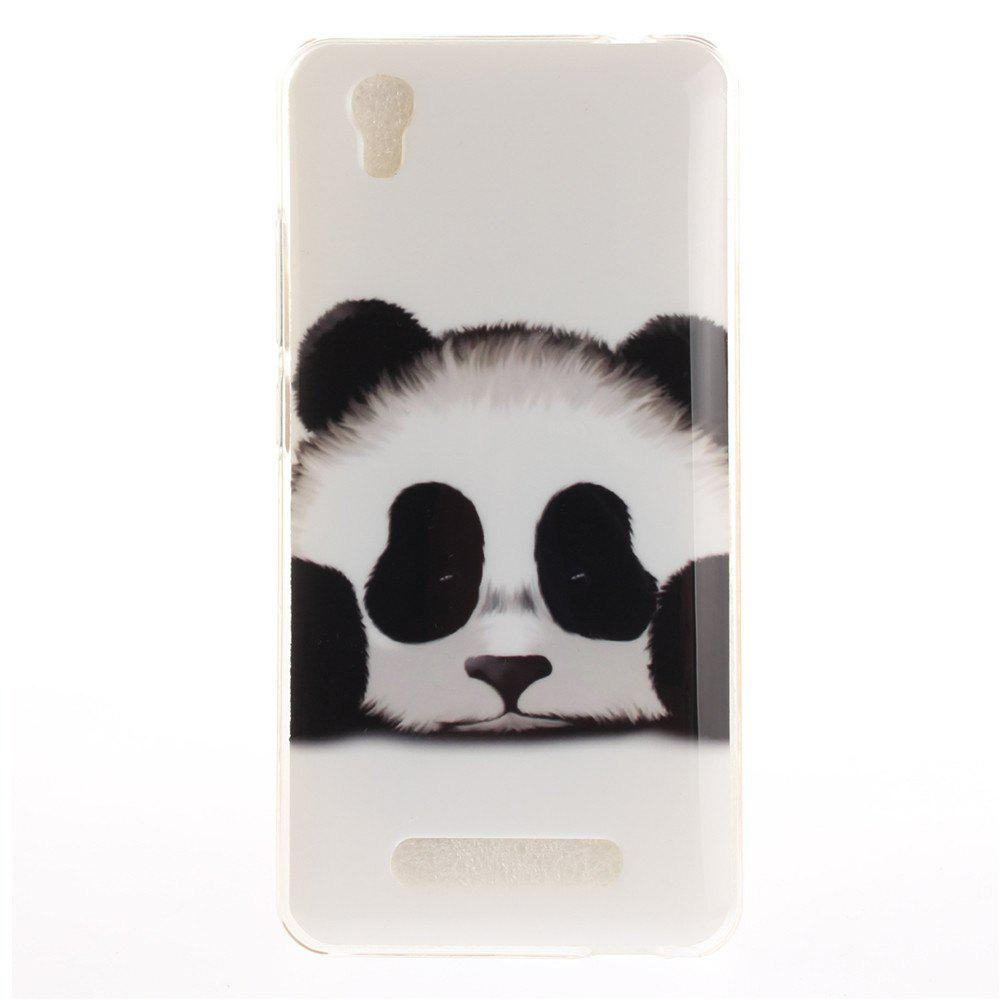 Panda Soft Clear IMD TPU Phone Casing Mobile Smartphone Cover Shell Case for ZTE A452 Blade X3 D2 T620 Q519T - BLACK