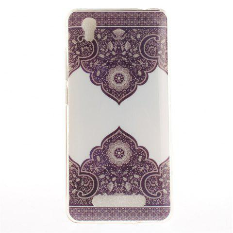 Diagonal totem Soft Clear IMD TPU Phone Casing Mobile Smartphone Cover Shell Case for ZTE A452 Blade X3 D2 T620 Q519T - COLORMIX