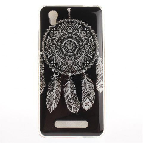 Black Dream Soft Clear IMD TPU Phone Casing Mobile Smartphone Cover Shell Case for ZTE A452 Blade X3 D2 T620 Q519T - BLACK