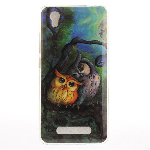 Oil Painting Owl Soft Clear IMD TPU Phone Casing Mobile Smartphone Cover Shell Case for ZTE A452 Blade X3 D2 T620 Q519T - COLORMIX