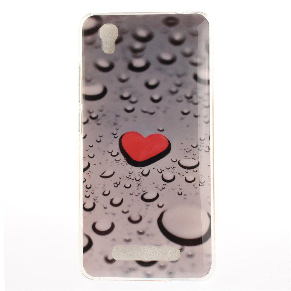 Love The Droplets Soft Clear IMD TPU Phone Casing Mobile Smartphone Cover Shell Case for ZTE A452 Blade X3 D2 T620 Q519T - COLORMIX