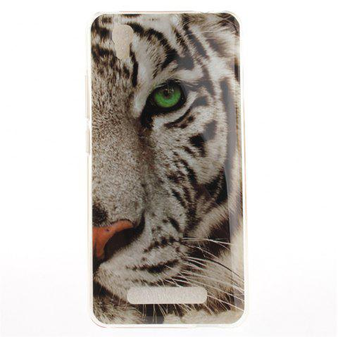 The Tiger Pattern Soft Clear IMD TPU Phone Casing Mobile Smartphone Cover Shell Case for ZTE A452 Blade X3 D2 T620 Q519T - GRAY