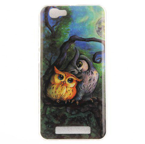 Soft Clear IMD TPU Phone Casing Mobile Smartphone Cover Shell Case for ZTE Blade A610 - COLORMIX
