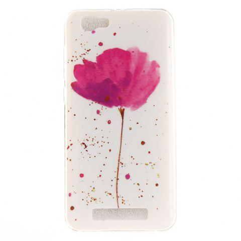 Song For Orchid Soft Clear IMD TPU Phone Casing Mobile Smartphone Cover Shell Case for ZTE Blade A610 - PINK