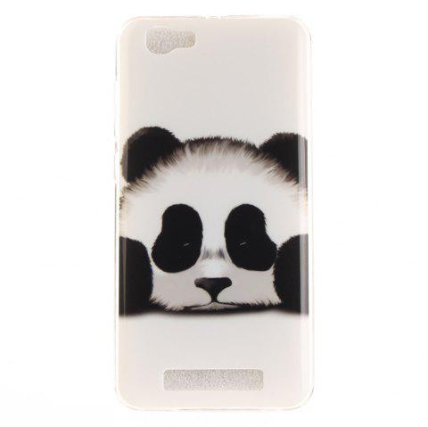 Panda Soft Clear IMD TPU Phone Casing Mobile Smartphone Cover Shell Case for ZTE Blade A610 - BLACK