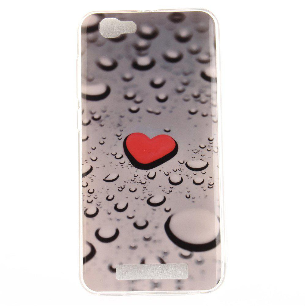 Love The Droplets Soft Clear IMD TPU Phone Casing Mobile Smartphone Cover Shell Case for ZTE Blade A610 - COLORMIX