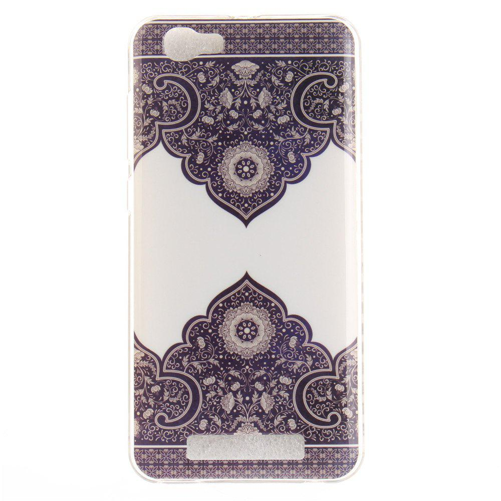 Diagonal Totem Soft Clear IMD TPU Phone Casing Mobile Smartphone Cover Shell Case for ZTE Blade A610 - COLORMIX
