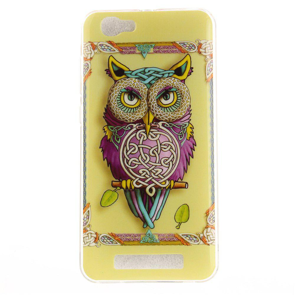 Owl Soft Clear IMD TPU Phone Casing Mobile Smartphone Cover Shell Case for ZTE Blade A610 - COLORMIX