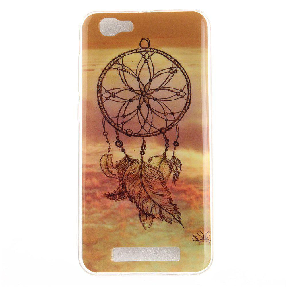 Windbell Pattern Soft Clear IMD TPU Phone Casing Mobile Smartphone Cover Shell Case for ZTE Blade A610 - COLORMIX