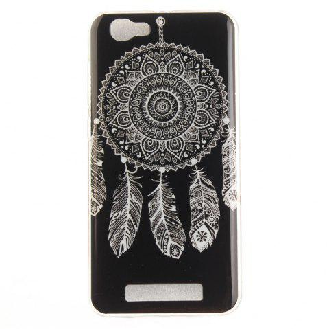 Black Wind Chimes Soft Clear IMD TPU Phone Casing Mobile Smartphone Cover Shell Case for ZTE Blade A610 - BLACK