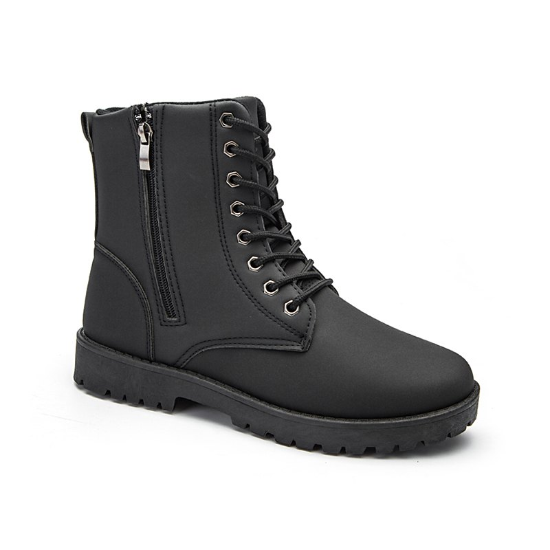 Autumn and Winter Fashion  High Top Men's Boots - BLACK 41