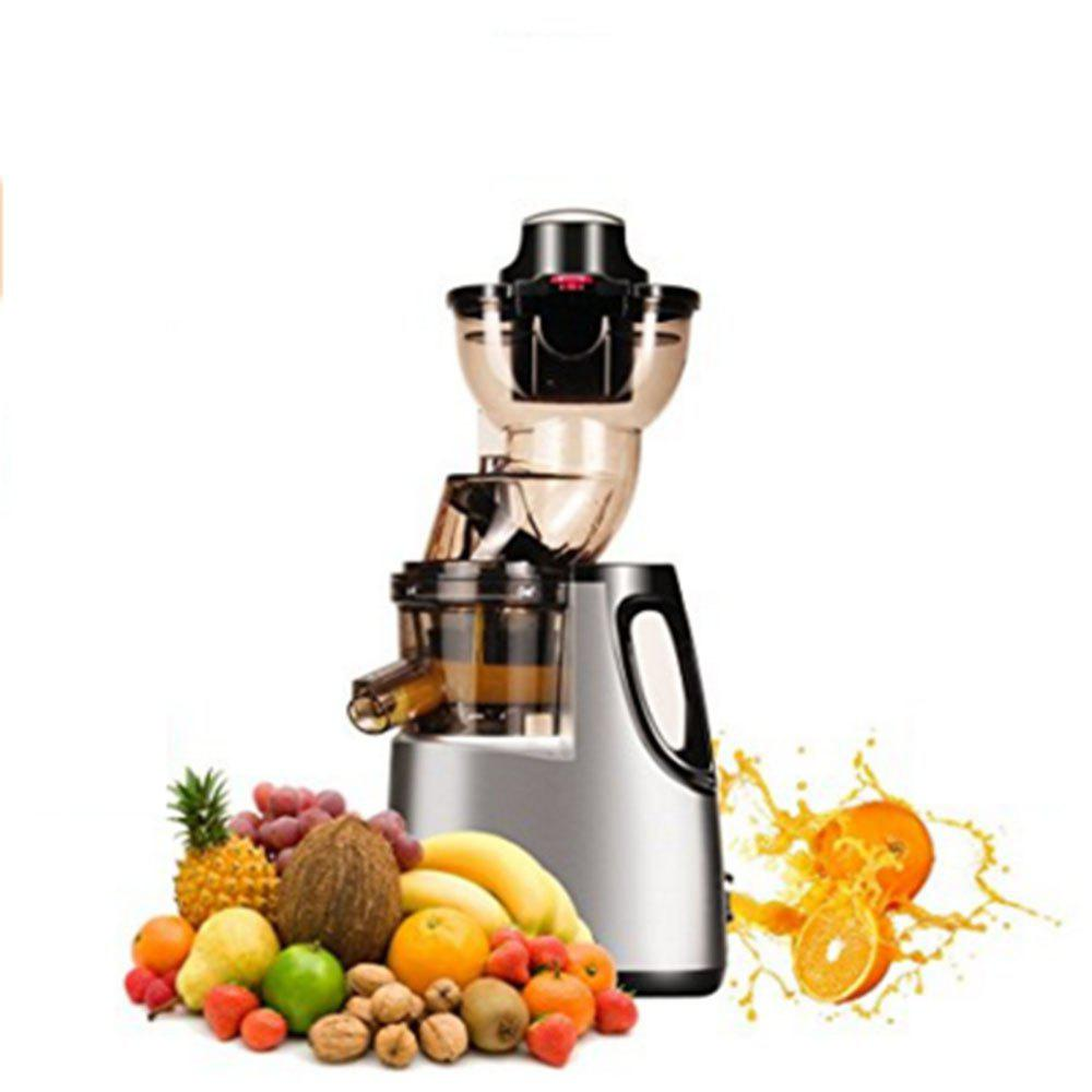 250W Vertical Masticating Cold Press Juicer 37RPMs Wide Chute Anti-oxidation Juice Extractor - GREY
