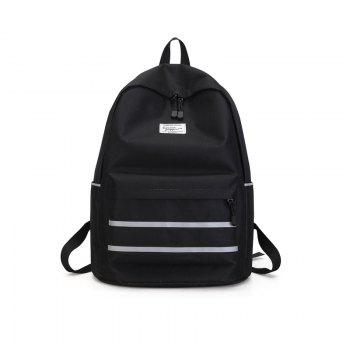 Stripe Chic Simple School Bag for Girl