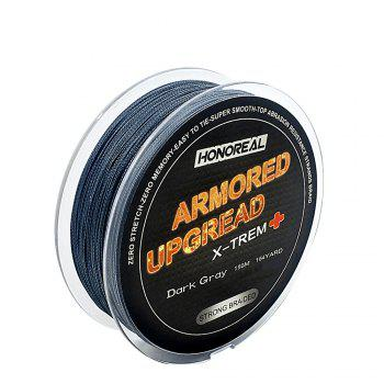HONOREAL Super Strong Abrasion Resistent Long 0.148mm 150m Grey and Green Color 4 Strands PE Braided Fishing Line - DEEP GRAY DEEP GRAY
