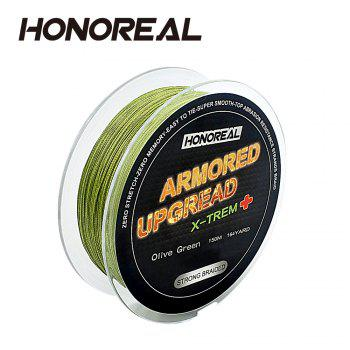 HONOREAL 0.182mm 150m  Super Strong Abrasion Resistant Long Grey and Green Color 4 Strands PE Fishing Braid Line - OLIVE GREEN