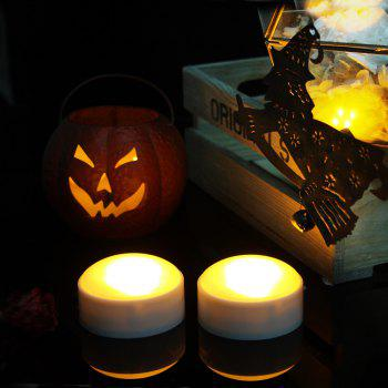 Set of Two Pumpkin Lights with remote White - WHITE WHITE