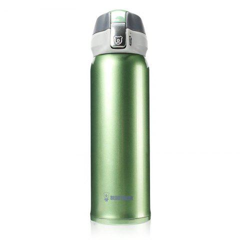 Coupe Ours Nouvelle UV Solide Couleur Acier Inoxydable Simple Isolation Tasse 450ML - Vert
