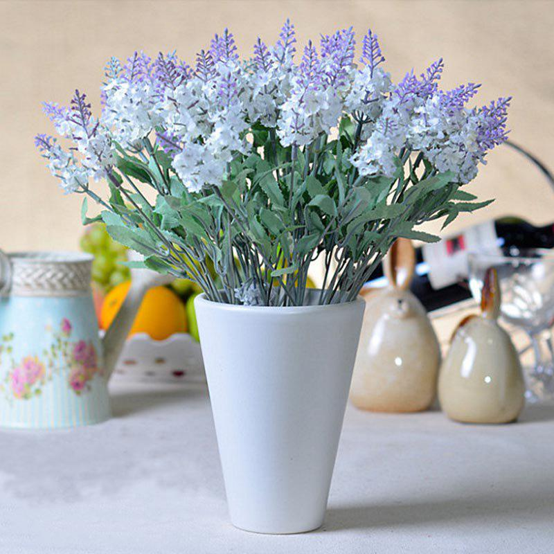 Artificial plant Lavender fake flowers - WHITE