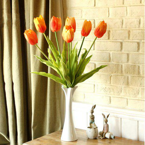 Anti-real flowers tulip fake flowers (large) - YELLOW / RED