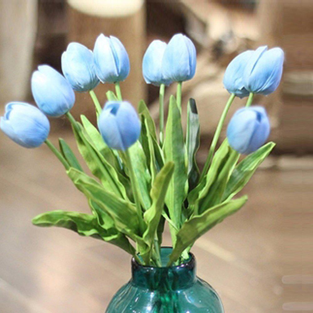 Anti-real flowers tulip fake flowers (large) - BLUE
