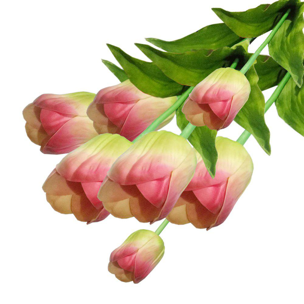 2018 Anti Real Flowers Tulip Fake Flowers Large Greenpink In