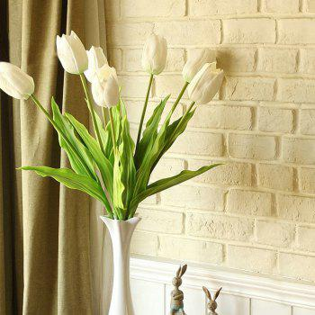 Anti-Real Flowers Tulip Fake Flowers (Medium) - WHITE WHITE