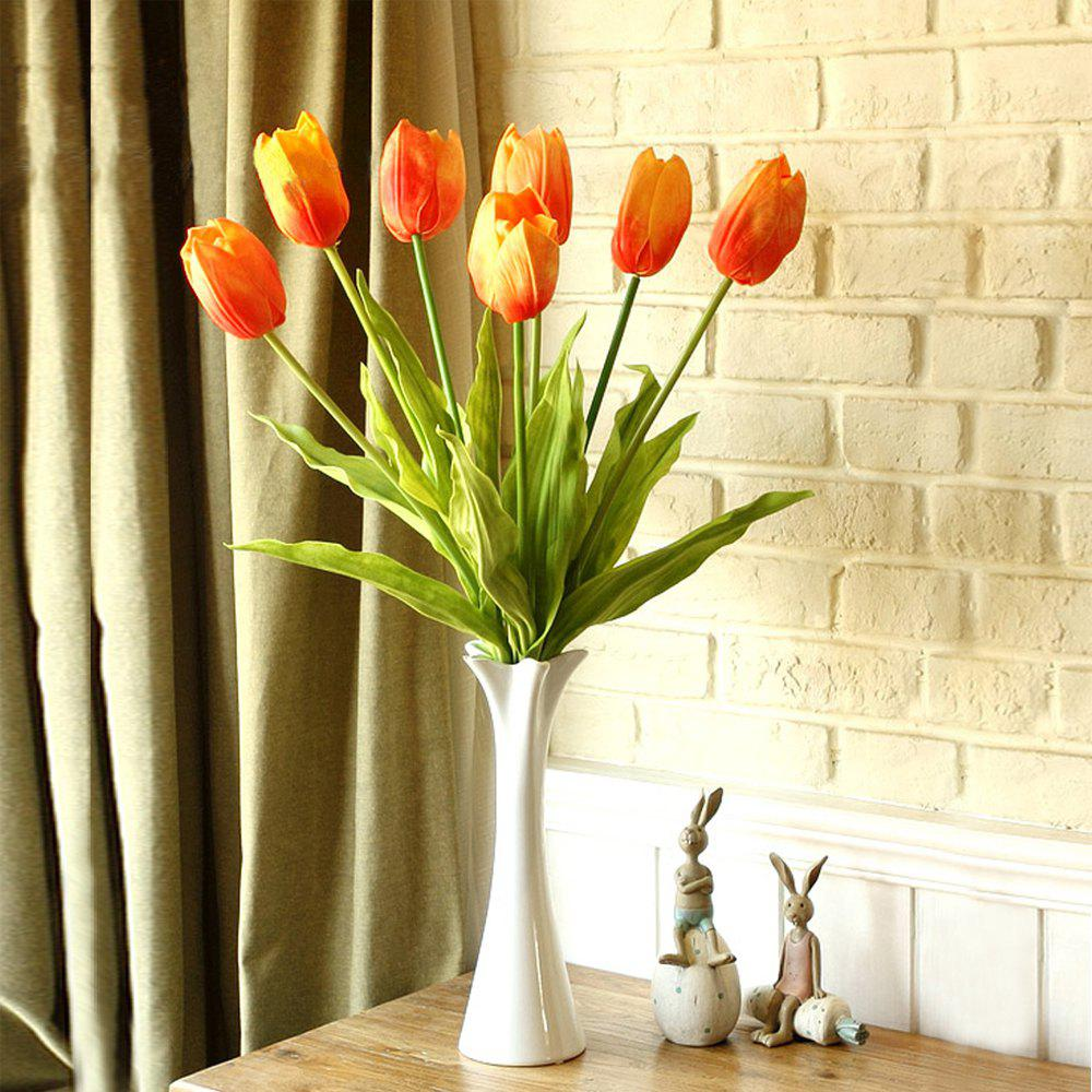 Anti-Real Flowers Tulip Fake Flowers (Medium) - YELLOW / RED