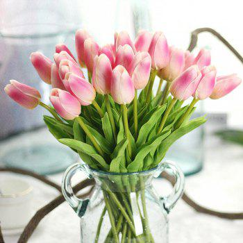 Anti-True Flower Tulip Fake Flowers (Trumpet)4 - PINK PINK