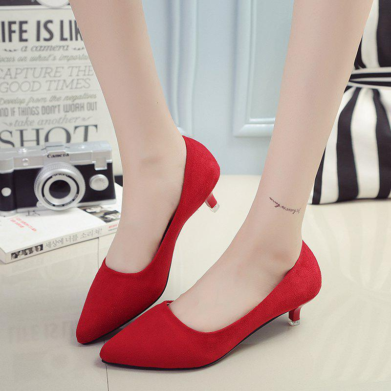 NJ-662 Pointed To The Low Light Suede Shoes Foot Sleeve от Dresslily.com INT