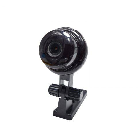 720P Panoramic Wide-Angle Baby MINI IP Camera Wifi Two-Way Voice Slot Night Vision Home Security 1.8MM Lens 180 Degrees - BLACK EU
