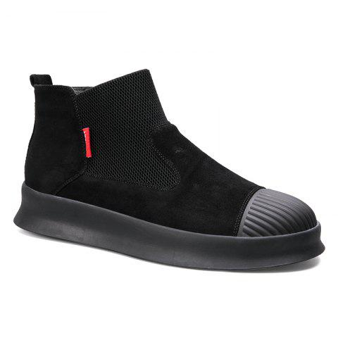 Men Casual Trend of Fashion Home Outdoor Warm Slip on Ankle Boots Shoes - BLACK 40