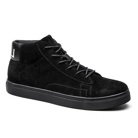 Men Casual Trend of Fashion Rubber Outdoor Warm Lace Up Ankle Boots - BLACK 40