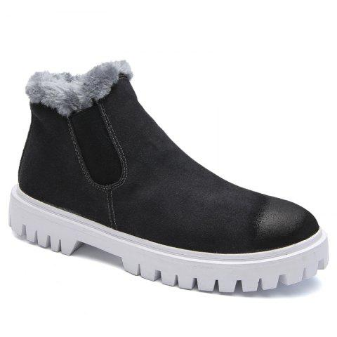 Men Casual Trend of Fashion Pu Leather Outdoor Slip on Snow Ankle Boots - GRAY 40
