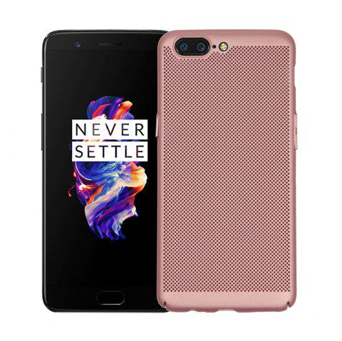 Heat Dissipation Ultra-thin Frosted Back Cover Solid Color Hard PC Case for OnePlus 5 - ROSE GOLD