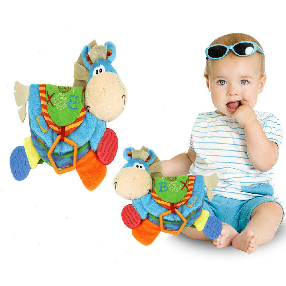Baby Rattles Teether Learning Educational Toys For Toddlers Donkey Cloth Book for 0-12 Month Christmas Gift недорго, оригинальная цена