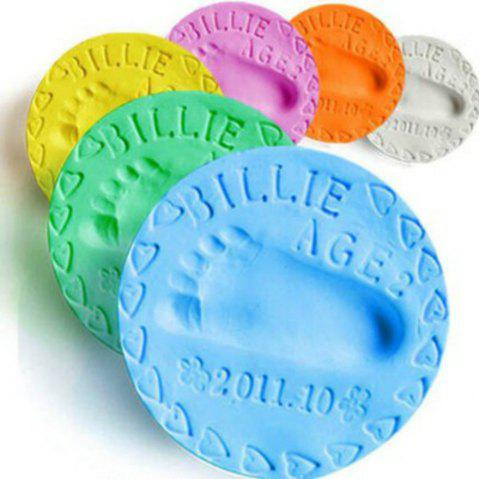 Air Drying Soft Clay Baby Handprint Footprint Imprint Kit Casting Parent-Child Hand Inkpad Fingerprint - BLUE