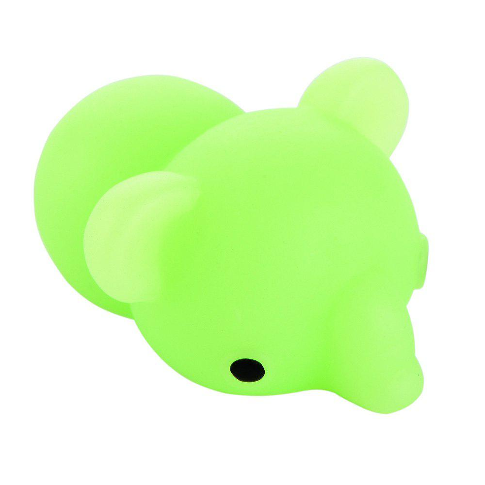 Squishy Cat Mochi Antistress Toys Kawaii Stress Relief Cute Funny Animals Squeeze Entertainment Gadget Kid Novelty Gift - GREEN