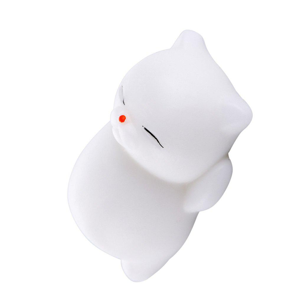 Squishy Cat Mochi Antistress Toys Kawaii Stress Relief Cute Funny Animals Squeeze Entertainment Gadget Kid Novelty Gift - RED