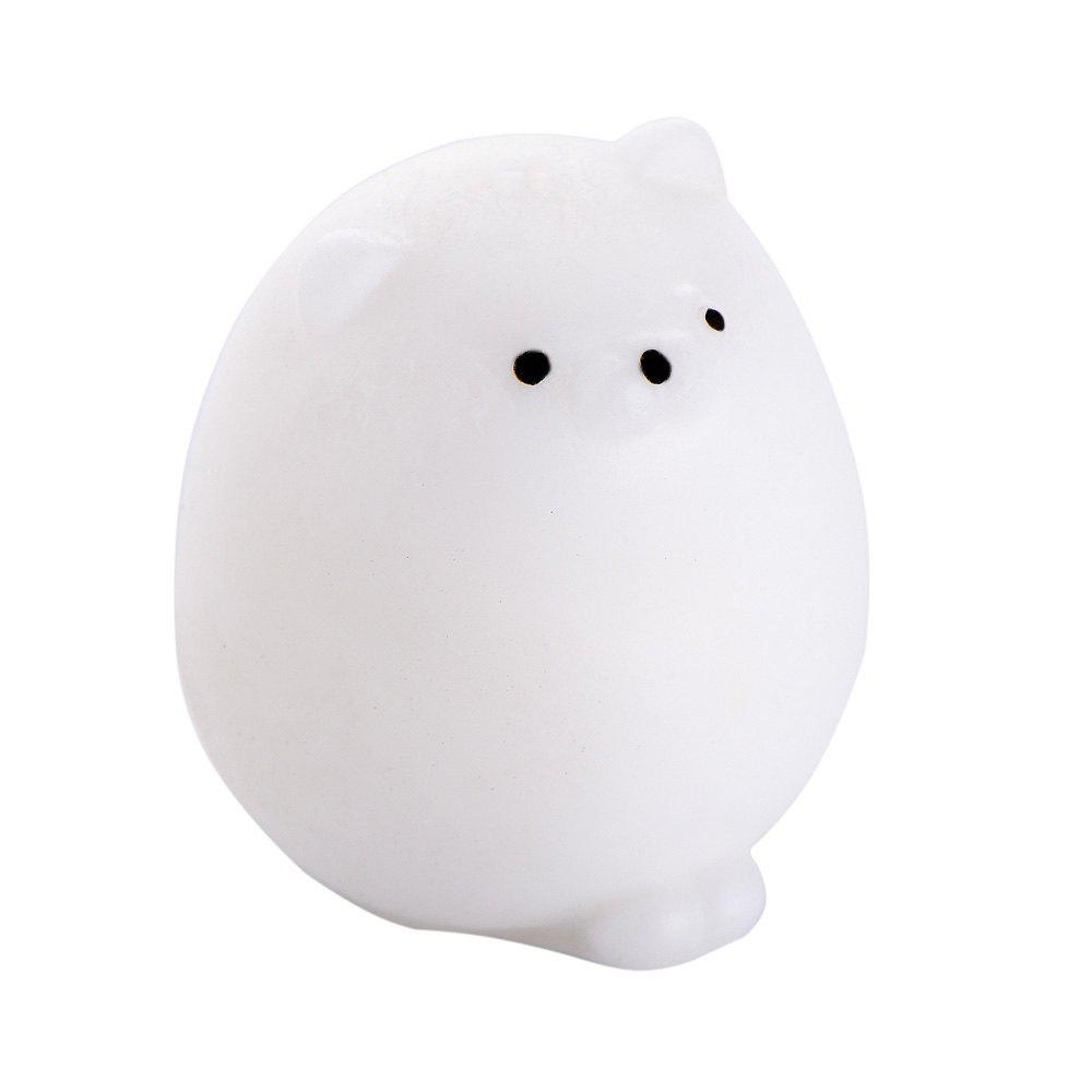 Squishy Cat Mochi Antistress Toys Kawaii Stress Relief Cute Funny Animals Squeeze Entertainment Gadget Kid Novelty Gift - WHITE