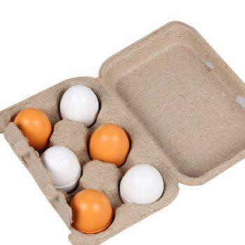 Wooden Kitchen Toys For Girls Kids Pretend Play Food Eggs - MIXCOLOR